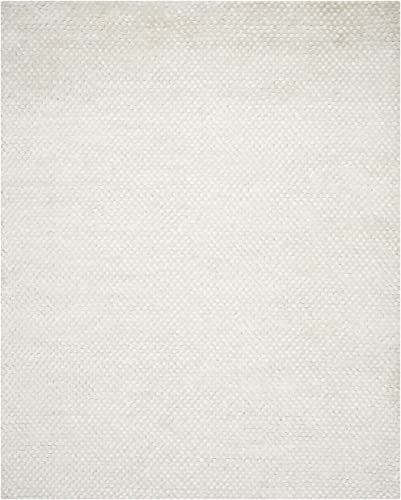 Safavieh Saint Tropez Collection STS641W Hand Woven Snow White Polyester Area Rug 8 x 10