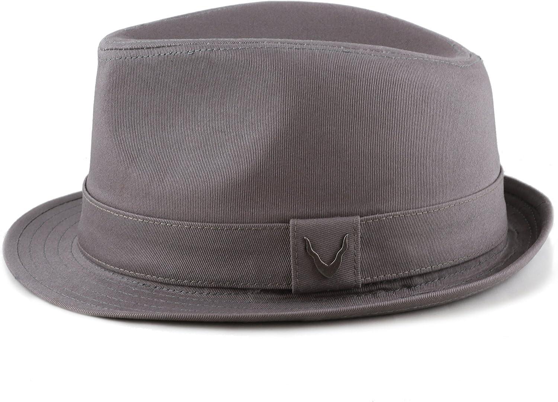 The Hat Depot Premium Paisley Lining Unisex Cotton /& Twill Herringbone Cotton Fedora Hat