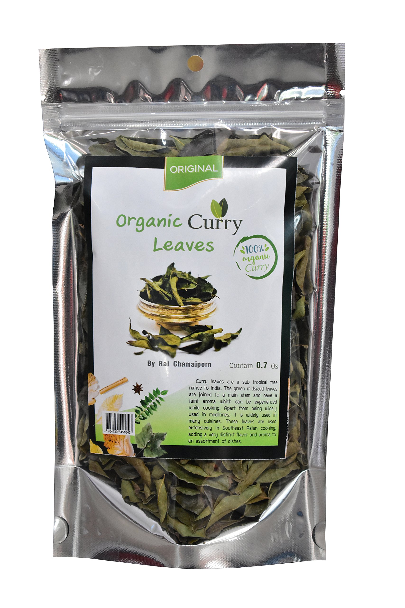 Organic Indian Dried Curry Leaves 0.7Oz