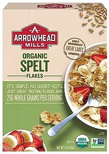 Arrowhead Mills Organic Cereal, Spelt Flakes, 12 oz. (AM37499)