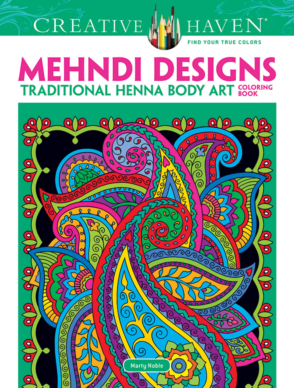 Dover Creative Haven Mehndi Designs Coloring Book Creative