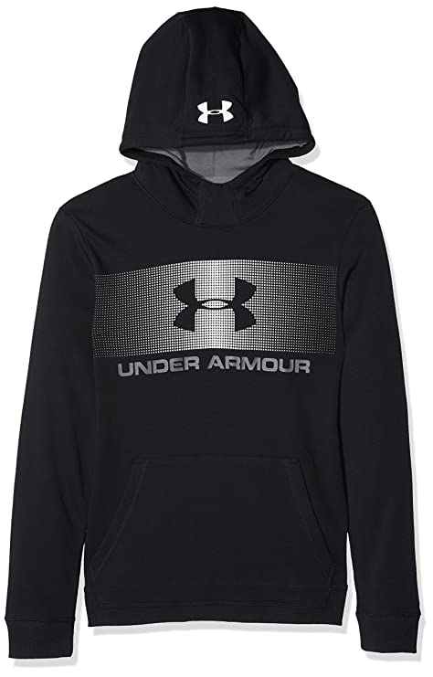Under Armour CTN French Terry Hoody Sudadera, Niños, Negro (001), L