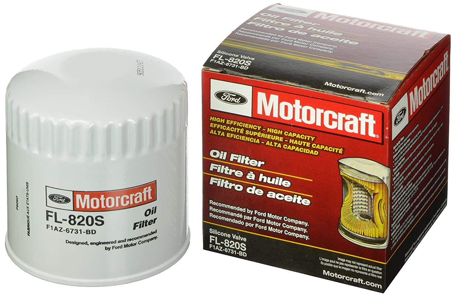 Motorcraft Fl820s Silicone Valve Oil Filter Automotive 1992 Ford F 250 Fuel Filters