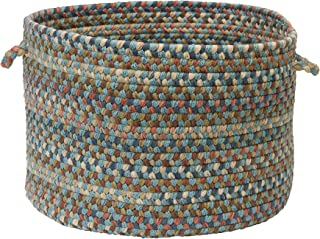 product image for Colonial Mills CV29 14 by 14 by 10-Inch Cedar Cove Storage Basket, Light Blue