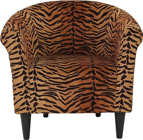 Parker Lane Safari Club Chair, Tiger Print