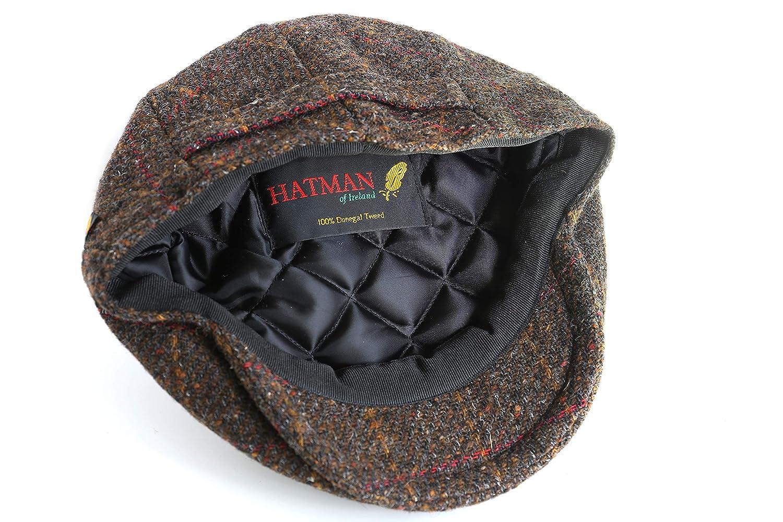 9fcb73d2 Men's Driving Cap 100% Tweed Cap Made in Ireland at Amazon Men's ...