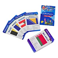 Baski Toys Flags of European Countries - Flash Cards (10 cm x 15 cm x 1.5 cm)