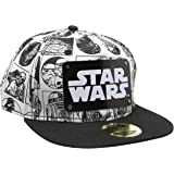 Star Wars Comic Style with Metal Plate Logo Casquette Snapback noir/blanc