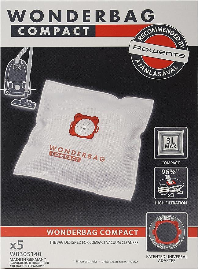 Rowenta WB305140 accesorio y suministro de vacío - Accesorio para aspiradora (Microfibra, 3 L, Power Space, Minispace, Compacteo, Compacteo Ergo): Amazon.es: Hogar