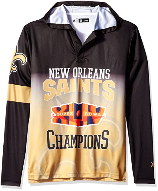 sports shoes 0f502 7bd35 FOCO NFL New Orleans Saints Super Bowl XLIV Champions Hoody Tee, X-Large