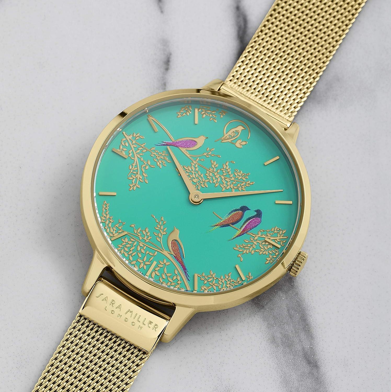 Sara Miller Chelsea Collection SA4008 - Reloj con Correa de Malla chapada en Oro: Amazon.es: Relojes