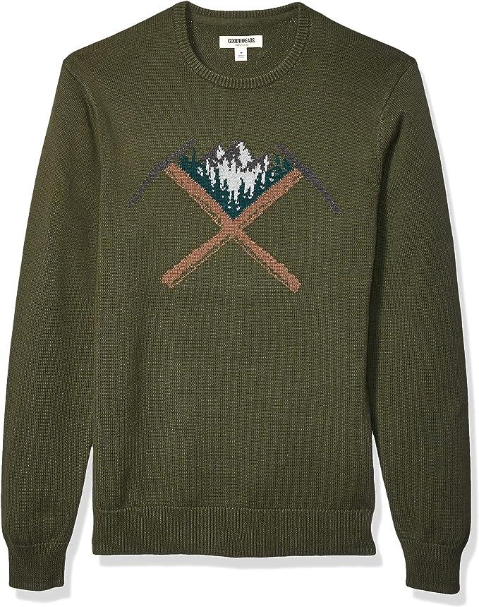 Marchio Amazon Goodthreads Soft Cotton Graphic Crewneck Sweater Uomo