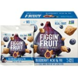 Figgin' Fruit Snacks   Fig, Blueberry & Acai   5 Pack, 1.25 oz Bags   Vegan Snacks, Dairy Free, Made with Real Fruit…