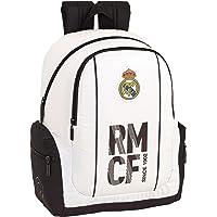 Real Madrid CF 611854662 Mochila Adaptable a Carro, Niños, Blanco, 43 cm