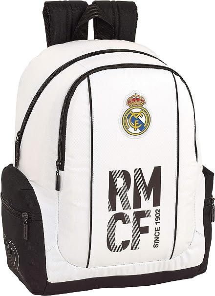 Real Madrid CF 611854662 Mochila Adaptable a Carro, Niños, Blanco ...