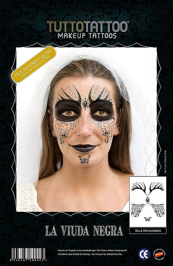 TuttoTattoo-Tatuaje Máscara Temporal, Make Up Tattoo Maquillaje Cara, Disfraz (Comunicación Grafica 20163TVIUN): Amazon.es: Juguetes y juegos