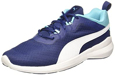 Puma Men's Pacer Evo Nrgy Turquoise-Blue Depths-Puma White Running Shoes -  10