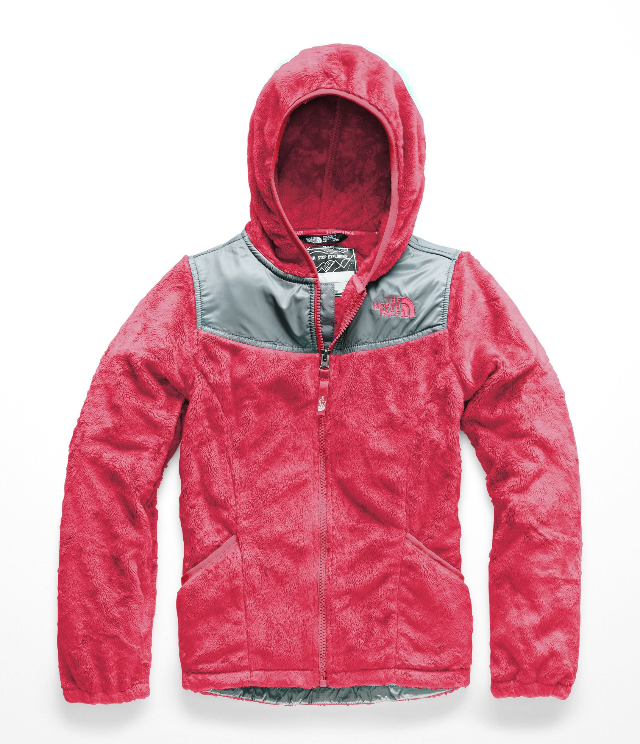 The North Face Girls OSO Hoodie - Atomic Pink - L