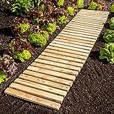 Rollweg für Gartenbeet Holz-Gartenweg: Amazon.de: Garten
