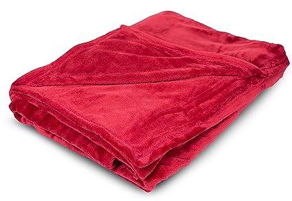 Amazon Internet's Best Plush Throw Blankets Burgundy Red Magnificent Best Soft Throw Blanket