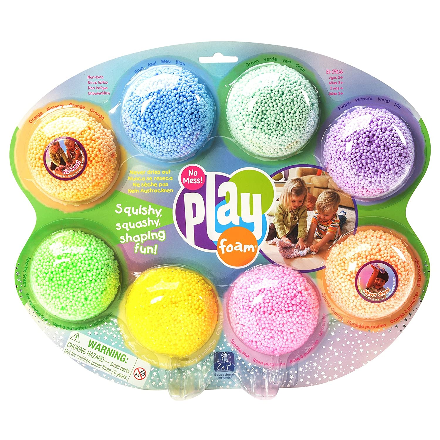 Educational Insights Playfoam Combo 8-Pack: Never Dries Out!