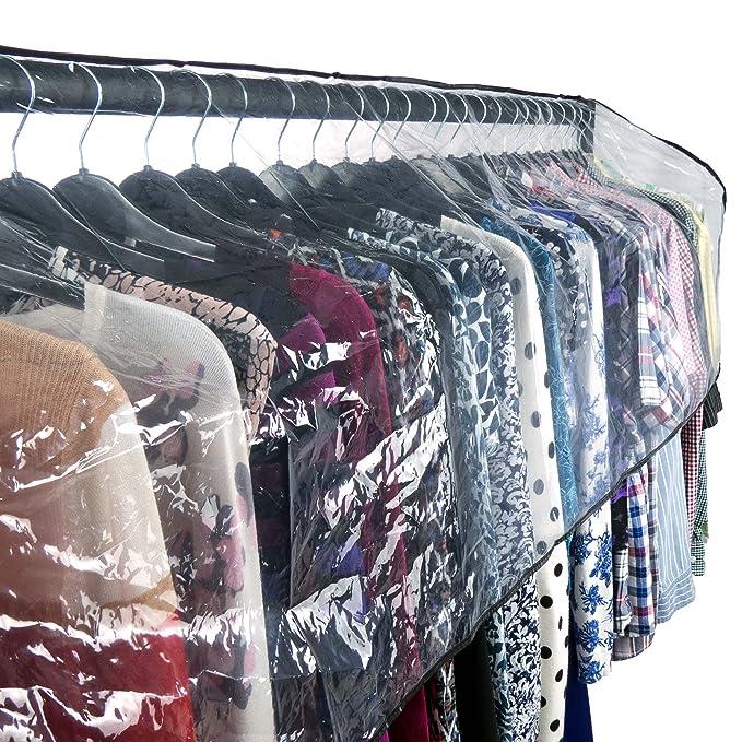 Hangerworld Funda 187cm para Perchero Cubierta para Burro Plástico Transparente Protege del Polvo