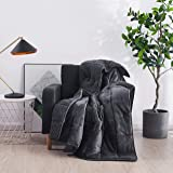 HomeSmart Weighted Throw Blanket for Adults & Kids (Dark Grey 7lbs 48x60) | Super Soft Fleece & Cozy Plush Sherpa Fabric on O