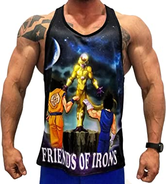 A. M. Sport Camisa Fitness de Tirantes para Hombre para Entrenar. T-Shirt Bodybuilding Transpirables. (Goku Vegeta Micro): Amazon.es: Ropa y accesorios