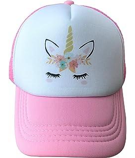 83e76250a45e0 Amazon.com  Waldeal Cute Unicorns Kids Girls Mesh Caps Trucker Hats ...