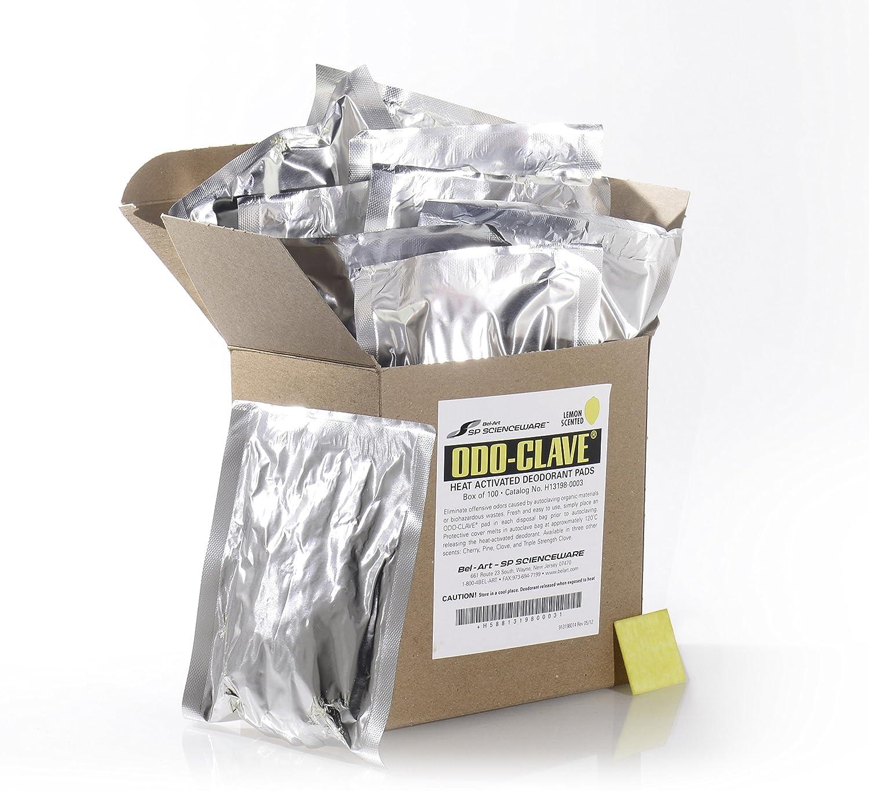 Bel-Art Odo-Clave Autoclave Deodorizer; Lemon Scent H13198-0003 Pack of 100