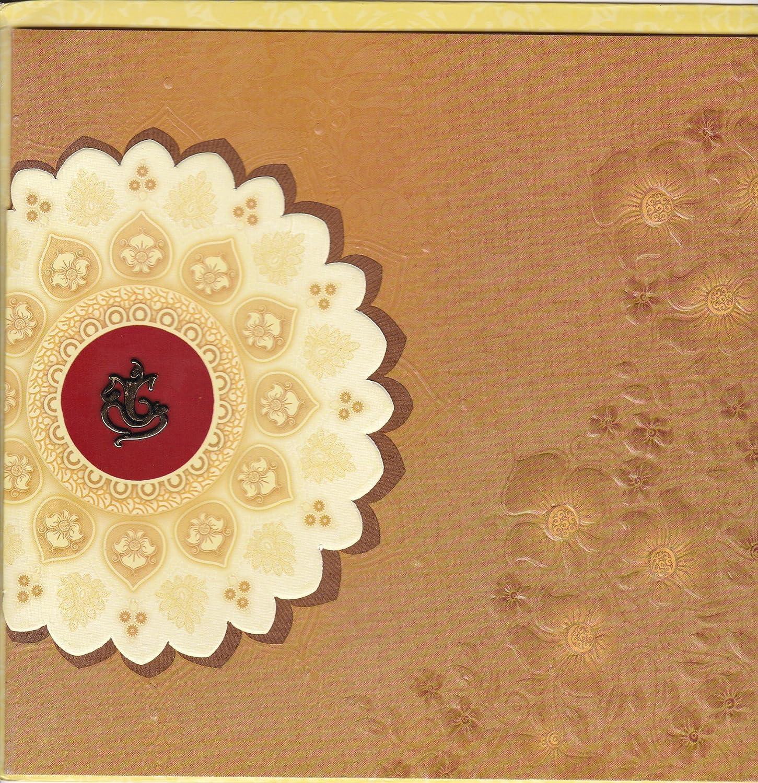 Divine Caard Unique Ganesha Sticker Indian Pattern Wedding Invitation Card 100 Pcs Amazon In Toys Games