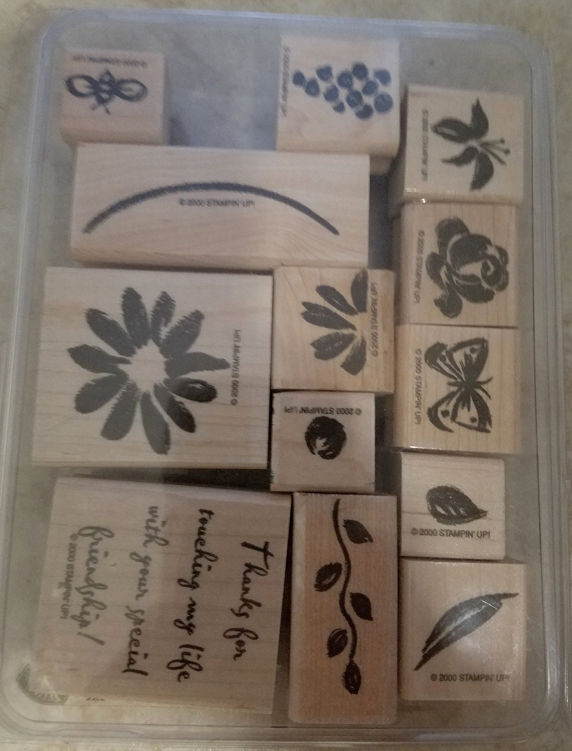 Stampin' Up! WATERCOLOR GARDEN Set of 13 Decorative Rubber Stamps Retired