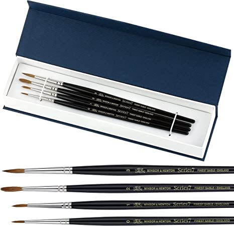 Winsor /& Newton Series 7 Kolinsky Sable Artists Quality Watercolour Brushes