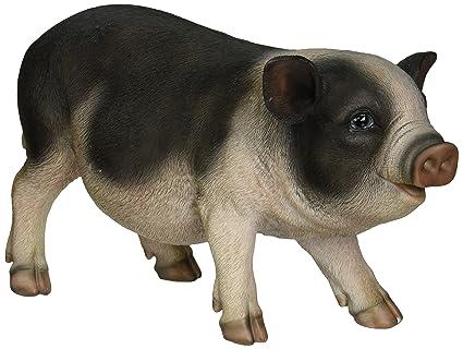 Hi Line Gift Ltd Pot Belly Pig Garden Statue