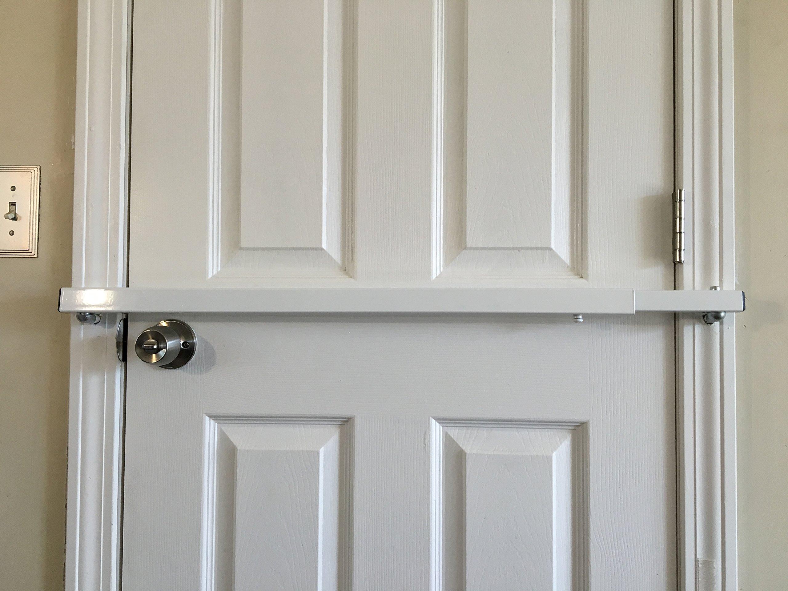 Door Bar Pro Model 42 AIO Steel Door Security Bar for Inswing Doors - Fits Doors From 24'' to 48'' Wide by Door Bar Pro