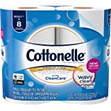 Cottonelle Ultra CleanCare Toilet Paper, Strong Biodegradable Bath Tissue, Septic-Safe, 4 Double Rolls