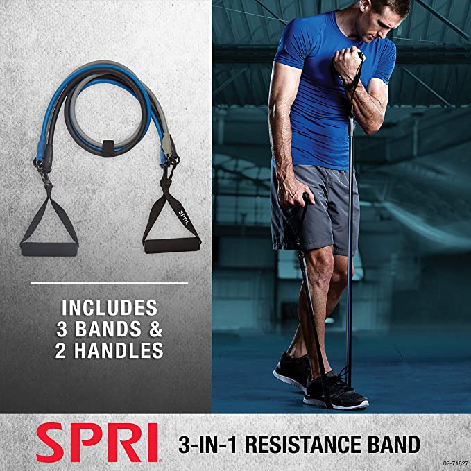 Ignite by SPRI Pro Resistance Cord Ultra Heavy Workout Band Exercise 60 lb