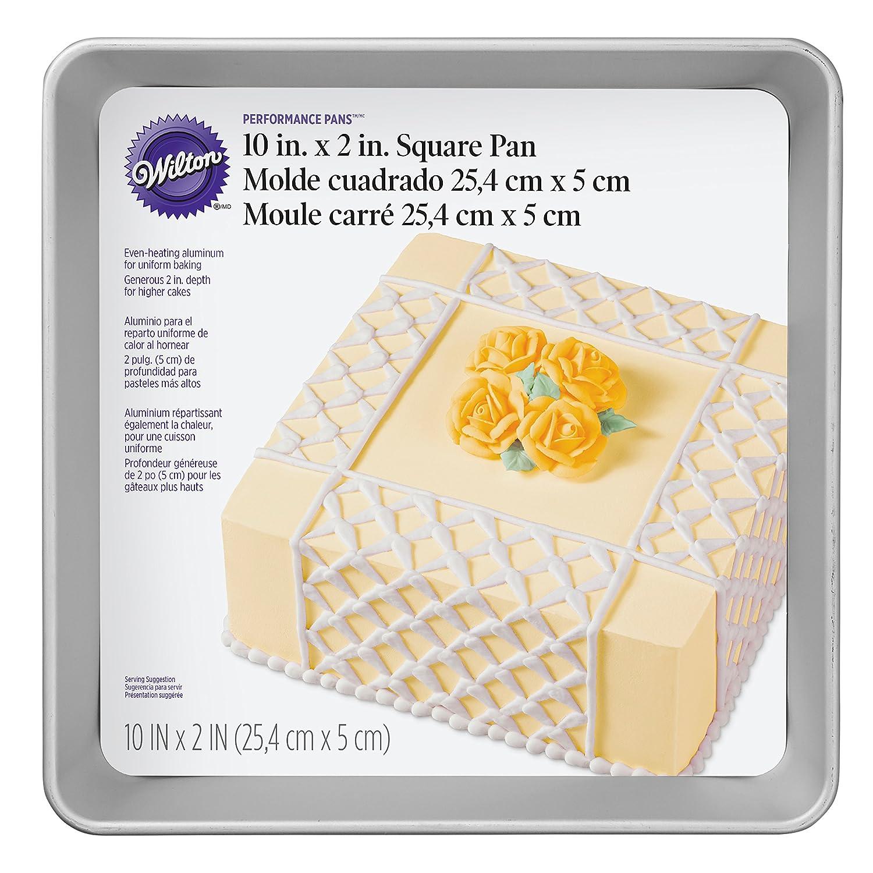 Wilton Performance Pans - Molde para tartas y pasteles cuadrado (25,4 x 5 cm): Amazon.es: Hogar