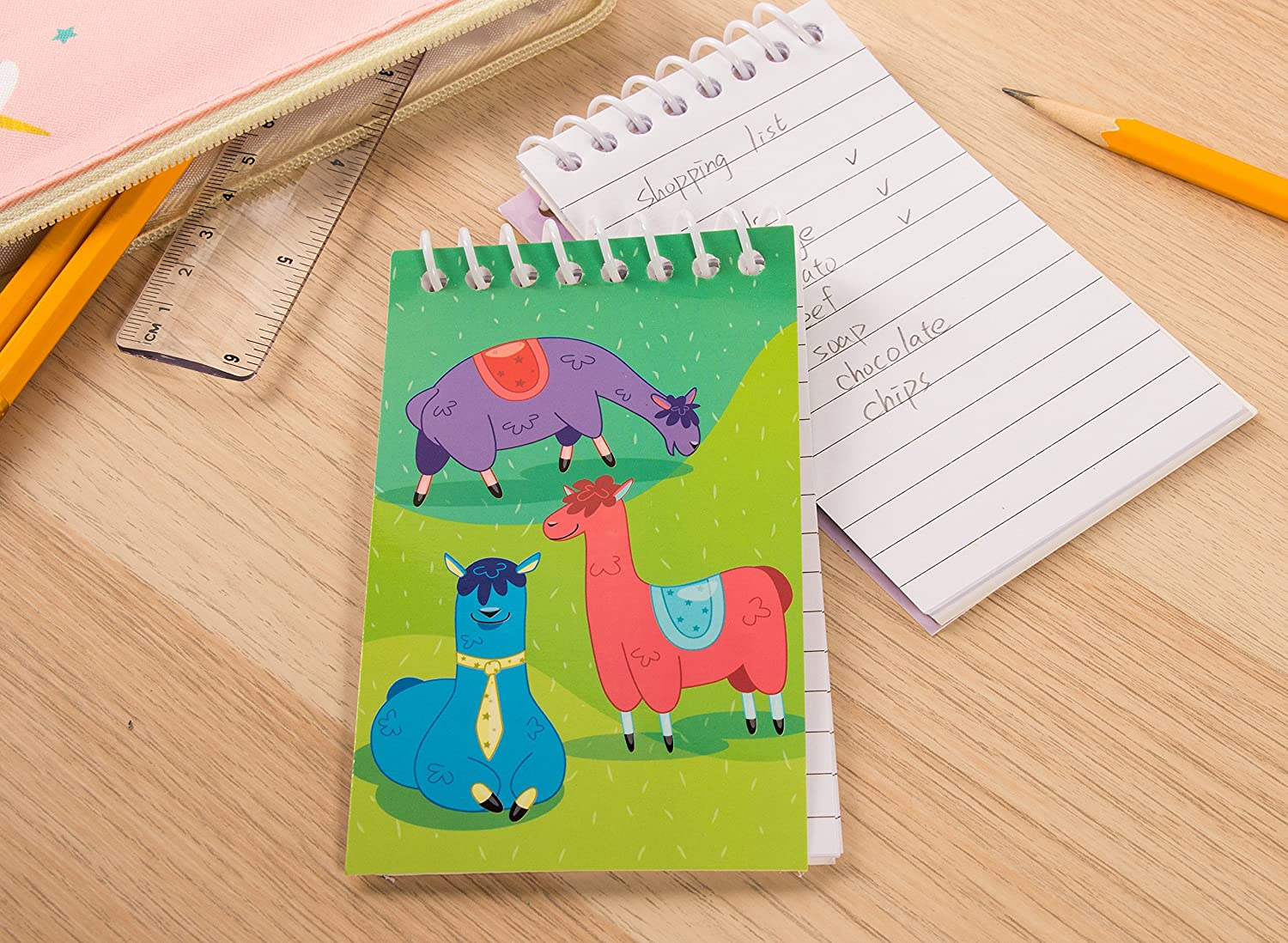 Spiral Notepad Lined Paper 3 x 5 Inches To-do Lists Bulk Mini Spiral Notepads for Journaling 24-Pack Top Spiral Notebooks Note Taking 4 Dinosaur Designs