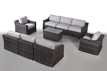 Tremendous Century Modern Outdoor Marina Collection Patio Furniture Sofa Garden Sectional Furniture Set Resort Grade Furniture No Assembly Required Cm 5916 Pdpeps Interior Chair Design Pdpepsorg