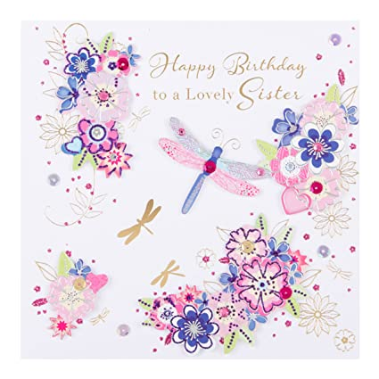 Image Unavailable Not Available For Color Lovely Sister Happy Birthday Greeting Card