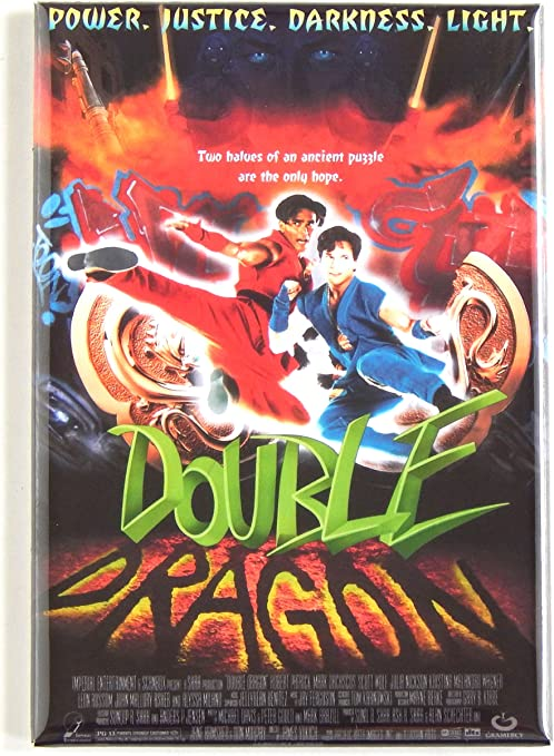 Amazon Com Double Dragon Movie Poster Fridge Magnet 2 5 X 3 5
