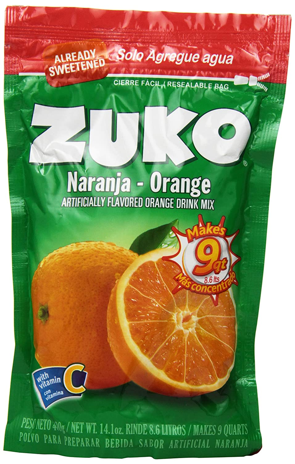 Amazon.com : Zuko Instant Drink-Orange, 14.1-Ounce (Pack of 6) : Juice : Grocery & Gourmet Food