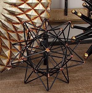 """Deco 79 95243 Trendy Metal Wire Star Décor, 7"""" W x 7"""" H"""