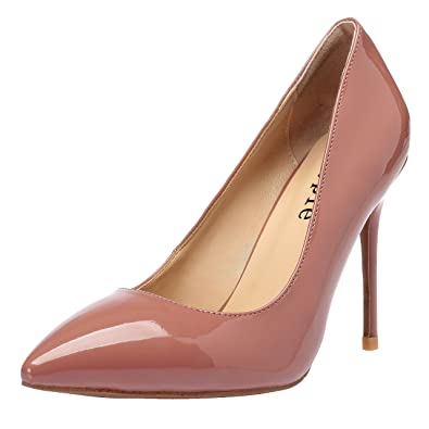 478cb03b507 MAYPIE Women s Sexy Dress Pumps Classic Closed Pointed Toe High Heel  Stilettos 4 Inches