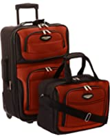 Travel Select Luggage Amsterdam Two Piece Carry-On Luggage Set - Navy ( 21-Inch and 15-Inch)
