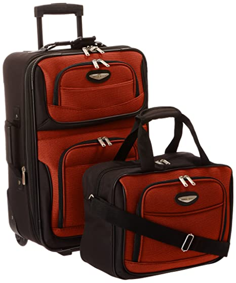 Travel Select Amsterdam Two Piece Carry-On Luggage Set, Orange, One Size