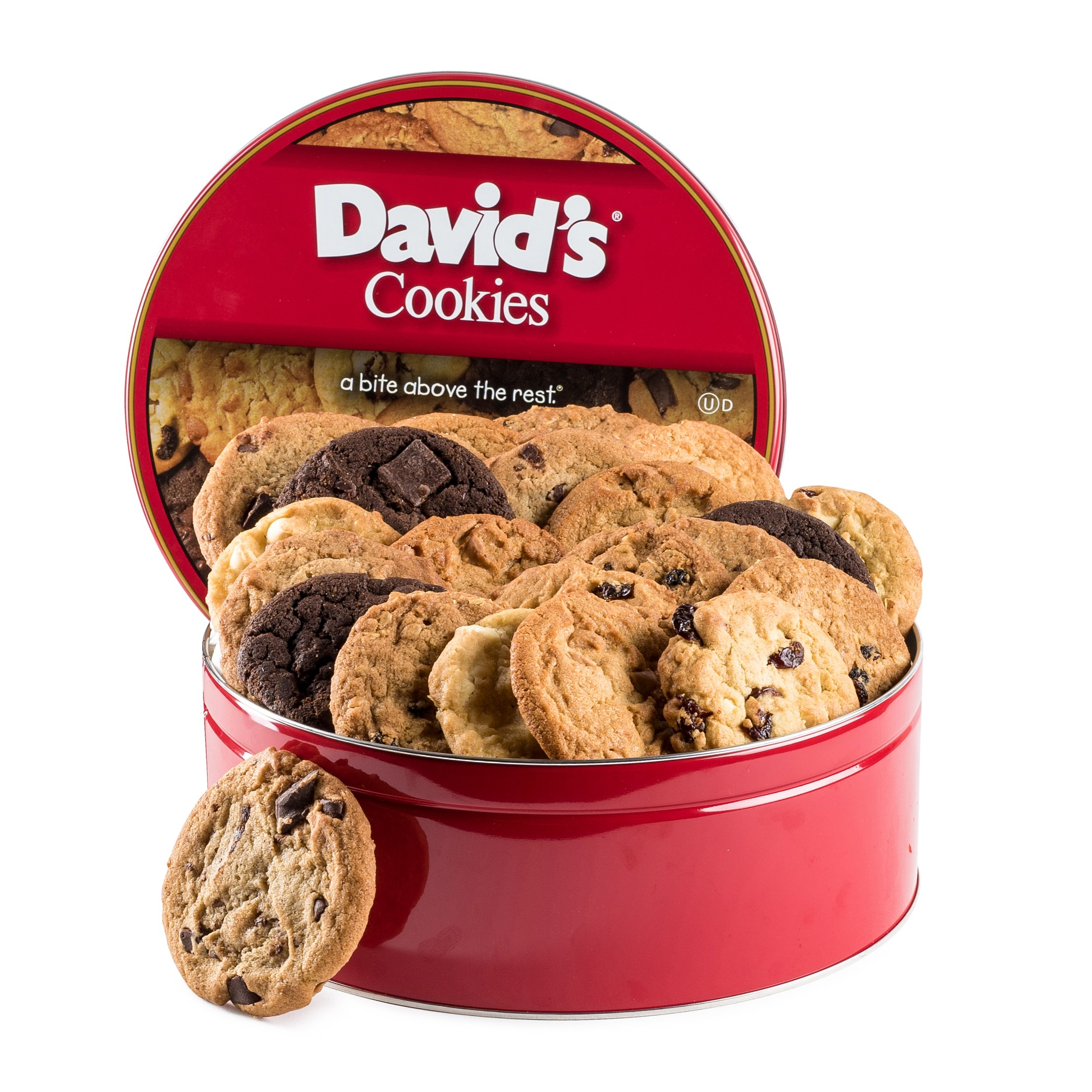 David's Cookies Assorted Flavors Fresh Baked Cookies 2 lb. Gift Tin