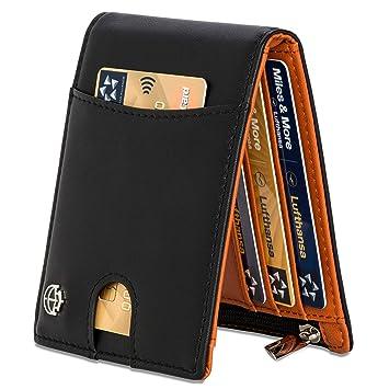 ba211a645d59e Geldbeutel mit Geldklammer und Münzfach 11 Kartenfächer TÜV geprüft RFID  Schutz - Ideal als Geschenk für