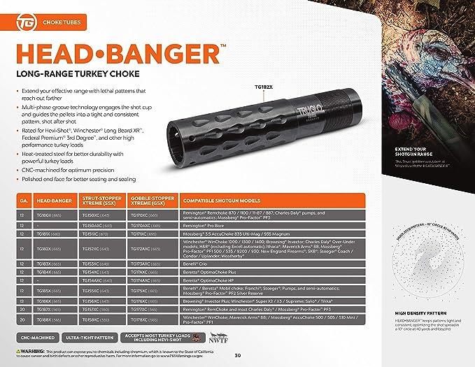 TRUGLO TG182X Head Banger Choke Tube, 12 Gauge, Long-Range, Turkey